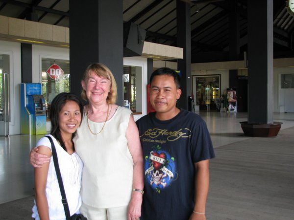 Veasna and Song farewelling us at the airport