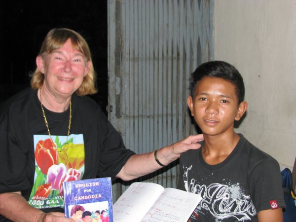 Each afternoon Margaret gave English lesson to a 15 y.o. boy