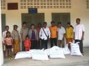 Delivery of rice to the teachers.