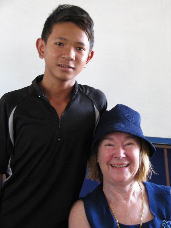 Sei hak is sponsored in his studies at Cambodia Worldbridge School, Siem Reap